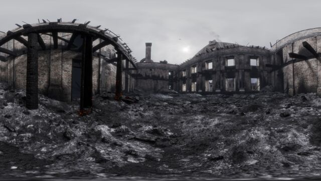 Tartu Ülikooli peahoone põlengu järgselt 3D